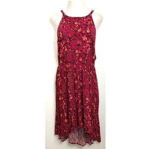 ➕ TORRID 4 Pink Halter Butterfly Hi-low Dress